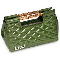 Mai Tai Clutch by Lux De Ville - Martini Green Sparkle