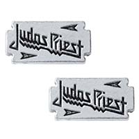 Judas Priest Razor-blade Stud Earrings -by Alchemy England 1977