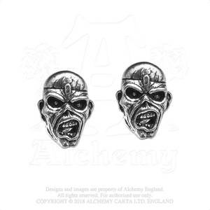 Iron Maiden Eddie Piece of Mind Stud Earrings -by Alchemy England 1977