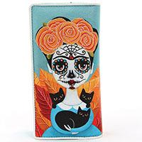 Sugar Skull Frida Zip Bi-fold Wallet by Comeco