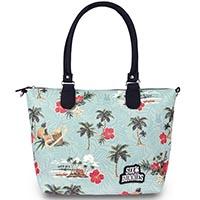 Paradise PVC Diaper Bag by Six Bunnies - blue