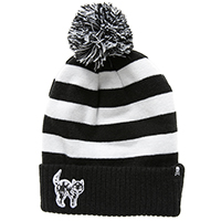 Creep Heart Cat Pom Beanie / Knit Hat by Sourpuss Clothing