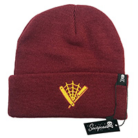 Straight Razor Knit Hat by Sourpuss Clothing  - in burgundy