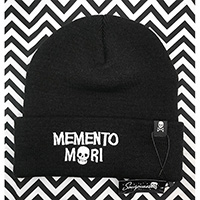 Memento Mori Knit Hat by Sourpuss Clothing