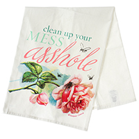 Clean Up Your Mess Dish Towel by Sourpuss