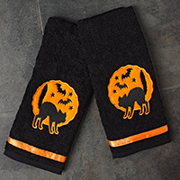 Haunted Cats Towel Bathroom Set by Sourpuss