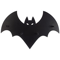 Bat w Cut Out Eyes Hook Display by Sourpuss