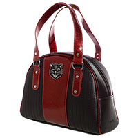 Tuck & Roll Jinx Purse by Sourpuss - red & black