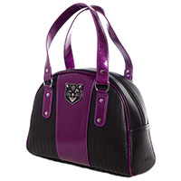 Tuck & Roll Jinx Purse by Sourpuss - purple & black