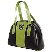 Tuck & Roll Jinx Purse by Sourpuss - green & black