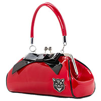 Floozy Jinx Kisslock Purse by Sourpuss - Red