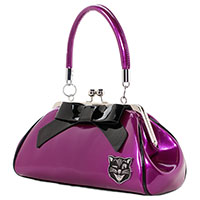 Floozy Jinx Kisslock Purse by Sourpuss - Purple