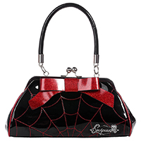 Web Floozy Kisslock Purse by Sourpuss - Red