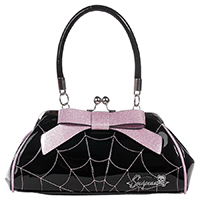 Web Floozy Kisslock Purse by Sourpuss - Pink