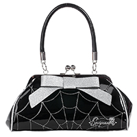 Web Floozy Kisslock Purse by Sourpuss - Silver