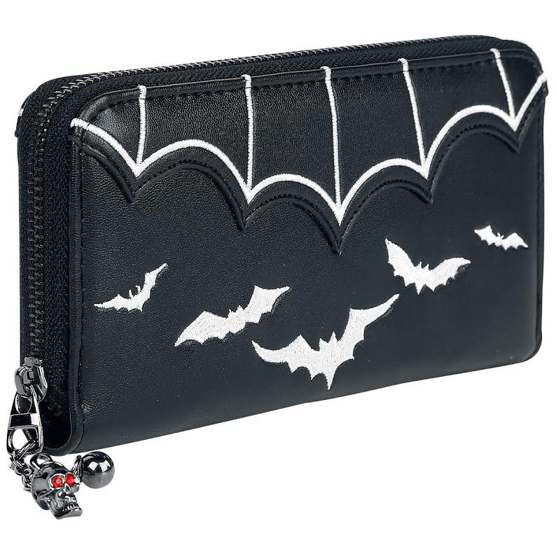 Salem Large Bat Wallet/Clutch by Banned Apparel