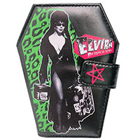 Elvira Vinyl Coffin Wallet from Kreepsville 666 - Leo Luggage