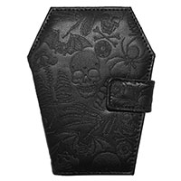 Embossed Coffin Skulls Vinyl Wallet by Kreepsville 666