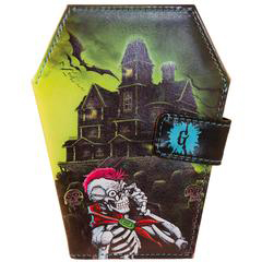 Goosebumps Haunted House Coffin Vinyl Wallet from Kreepsville 666