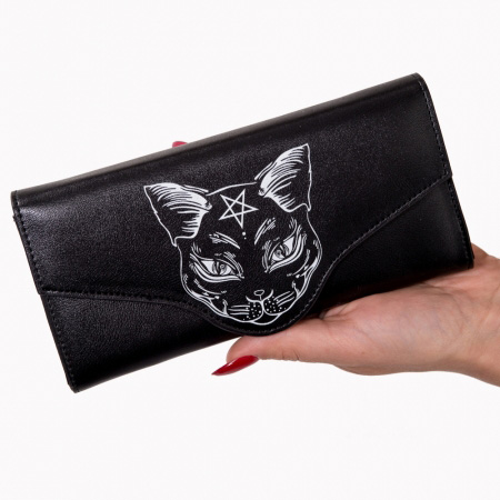 Nemesis Large Occult Cat Wallet/Clutch by Banned Apparel