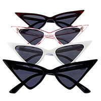 High Point Triangular Cat Eye Retro Sunglasses (Various Colors)