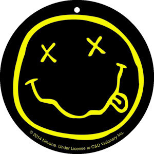 Nirvana- Smiley Face air freshener
