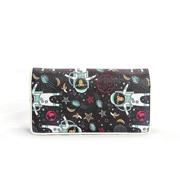 Astronaut Monkey Zip Bi-fold Wallet by Comeco
