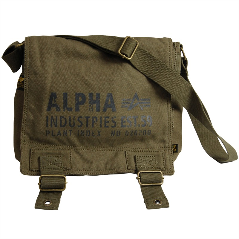 Canvas Utility Bag by Alpha Industries- OLIVE