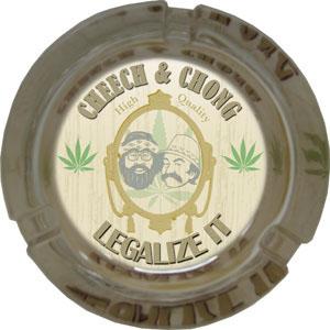 Cheech And Chong- Legalize It Ashtray (Glass)