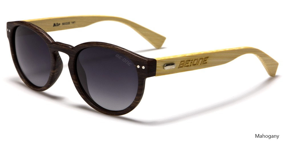 Bamboo Arm Polarized Sunglasses by Be-One (Various Colors)