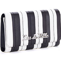 Bad Reputation Wallet by Lux De Ville- Black & White Matte Stripes