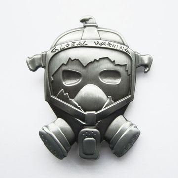 Gas Mask (Global Warning) belt buckle (bb237)