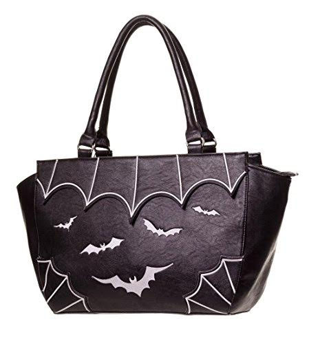 Bats Handbag by Banned Apparel in Black