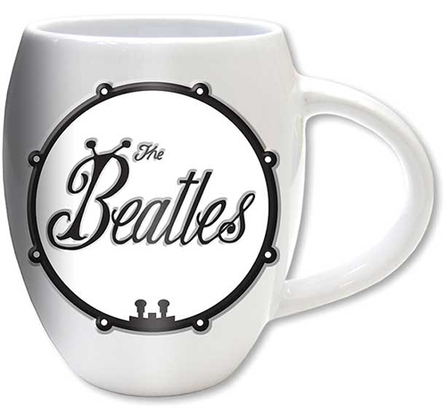 Beatles- Logo on an oval white coffee mug