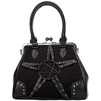 Restrict Pentagram Kisslock Handbag by Banned Apparel
