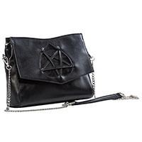 Flash of Twilight Heart Pentagram Shoulder Bag by Banned Apparel