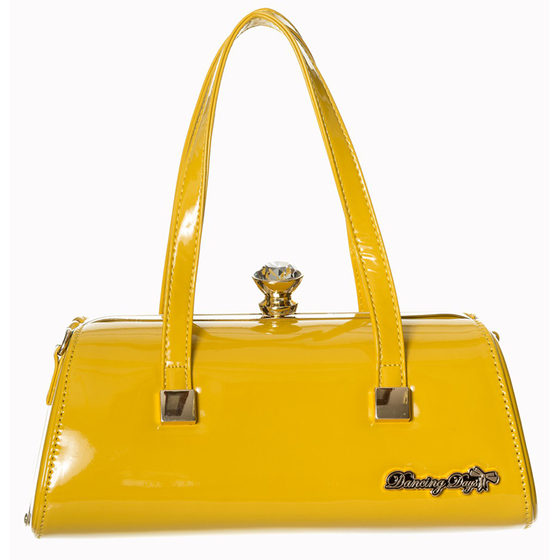 Emily Vintage Inspired 50's Handbag by Banned Apparel - in Banana Yellow