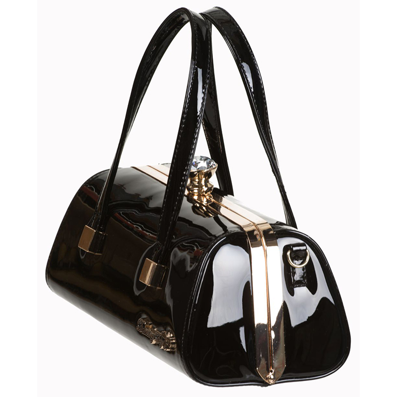 Emily Vintage Inspired 50's Handbag by Banned Apparel - in Black - SALE