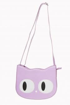 Addis Lilac Cat Handbag by Banned Apparel - SALE
