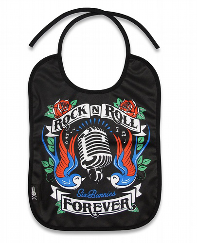 Rock N Roll Forever Bib by Six Bunnies