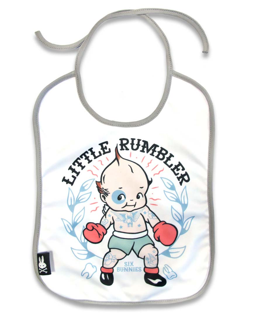 Little Kewpie Rumbler Bib by Six Bunnies