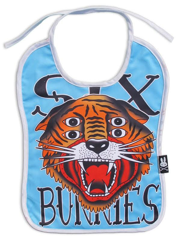 Tiger 4 Eyes Tattoo Art Bib by Six Bunnies - SALE