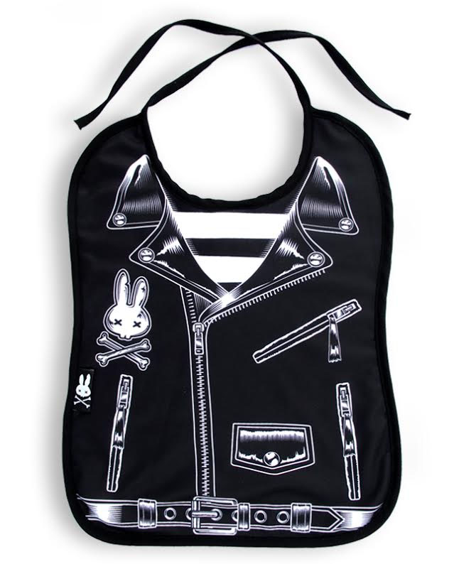 Rocker Biker Jacket Bib by Six Bunnies