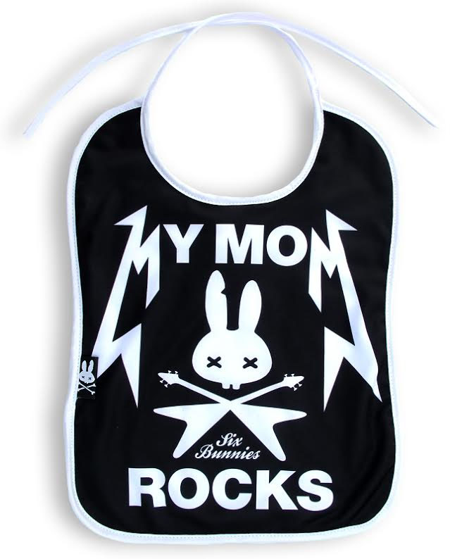 My Mom Rocks Bib by Six Bunnies
