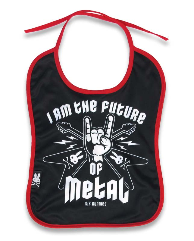 Future of Metal Bib by Six Bunnies