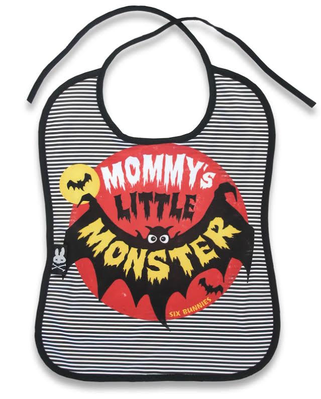 Mommys Little Monster Bib by Six Bunnies