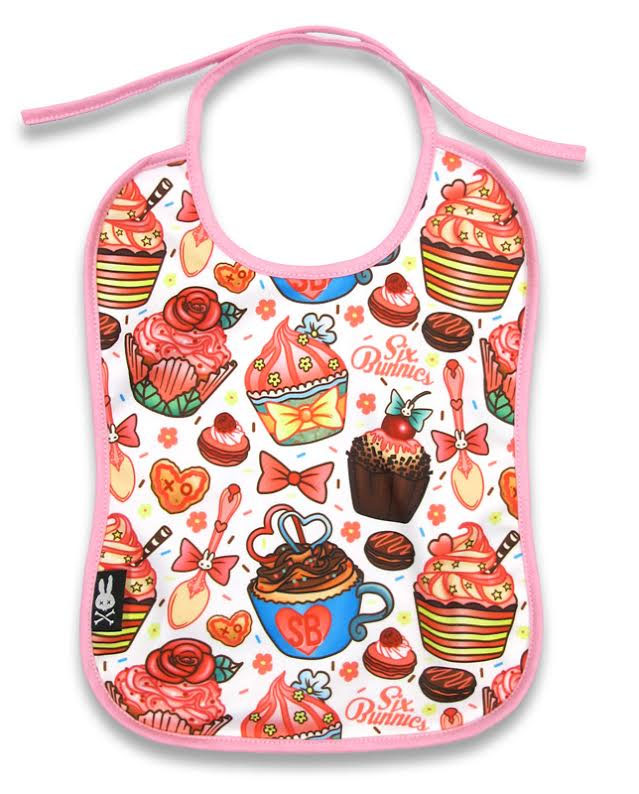 Cupcakes Bib by Six Bunnies - SALE