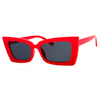 Big Payback Oversized Red Cat Eye Retro Sunglasses #17
