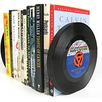 Vintage Recycled 45RPM Book Ends by Vinylux- Blondie & Pet Shop Boys