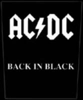 AC/DC- Back In Black Sewn Edge Back Patch (bp1)